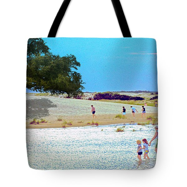 Waiting In The Water Tote Bag