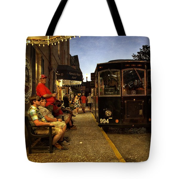 Waiting On A Bus Tote Bag