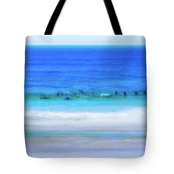 Waiting On A Wave Tote Bag by Joseph S Giacalone