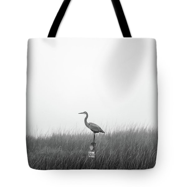 Waiting On The Fog To Clear Tote Bag