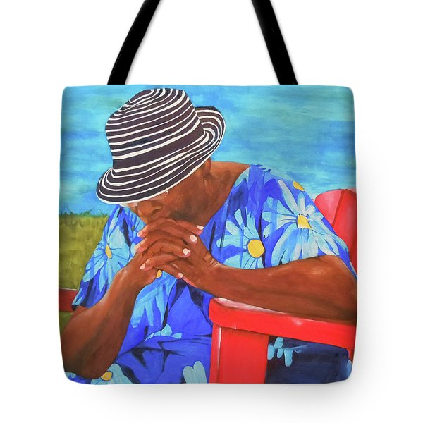 Waiting Patiently Tote Bag by Jean Blackmer