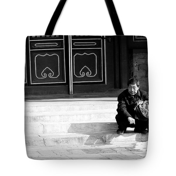 Waiting Tote Bag by Sebastian Musial