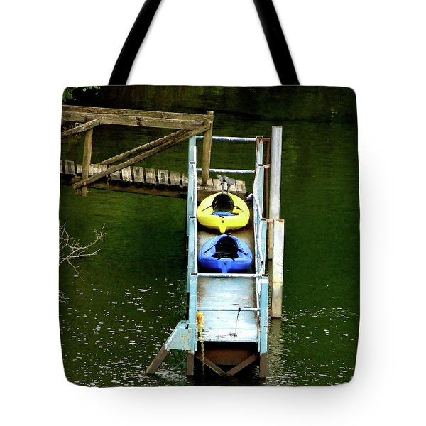 Waiting To Kayak Tote Bag