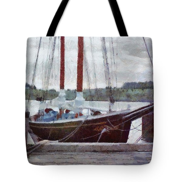 Waiting To Sail Tote Bag by Jeff Kolker