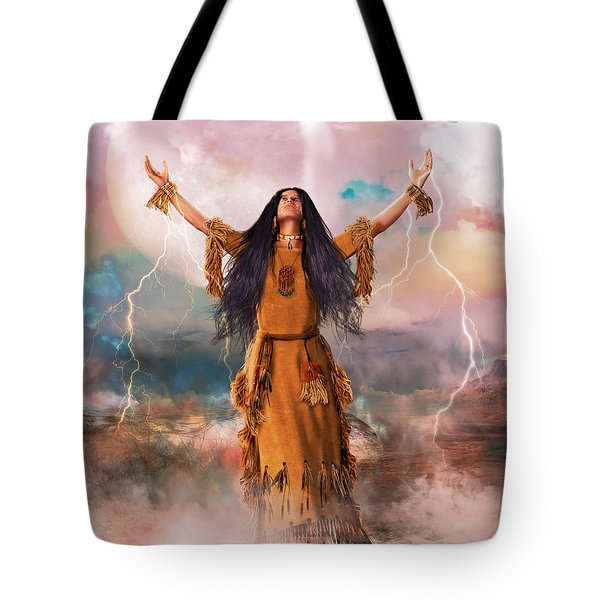 Wakan Tanka The Great Spirit Tote Bag