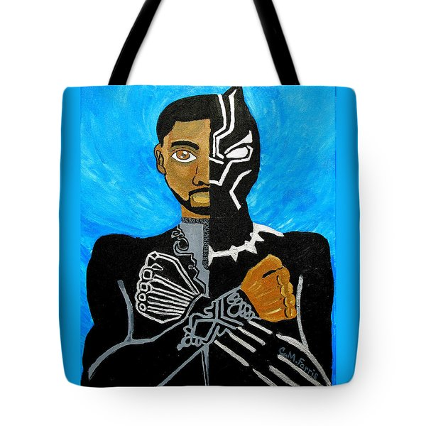 Tote Bag featuring the painting Wakanda Forever by Christopher Farris