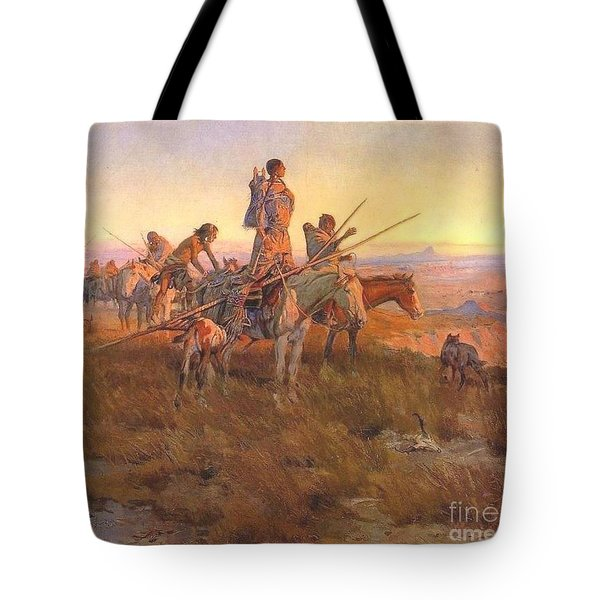 Wake Of The Buffalo Runners Tote Bag by Pg Reproductions