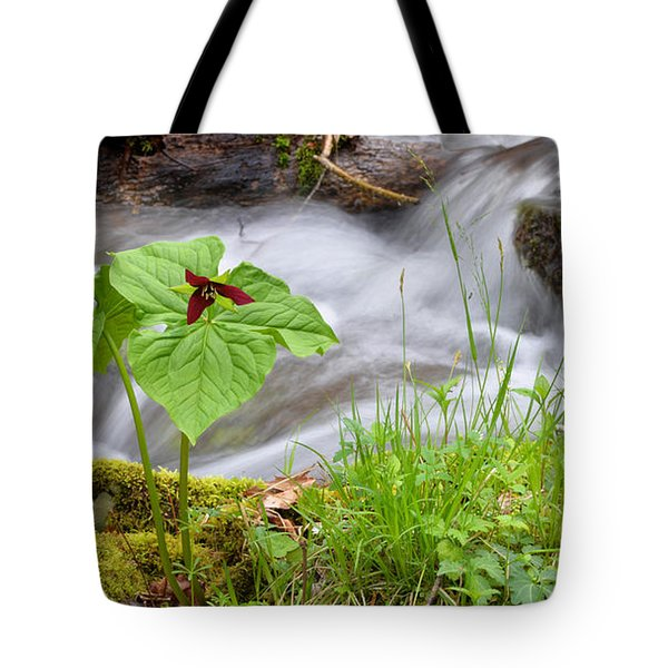 Wake Robin By Stream Tote Bag