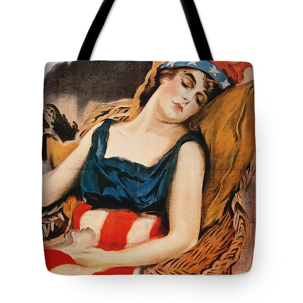 Wake Up America Poster Tote Bag by Granger