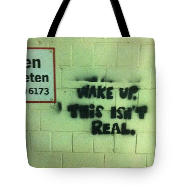 Wake Up Tote Bag by Christin Brodie