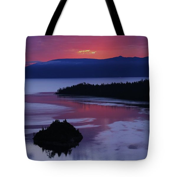 Wake Up In Lake Tahoe  Tote Bag