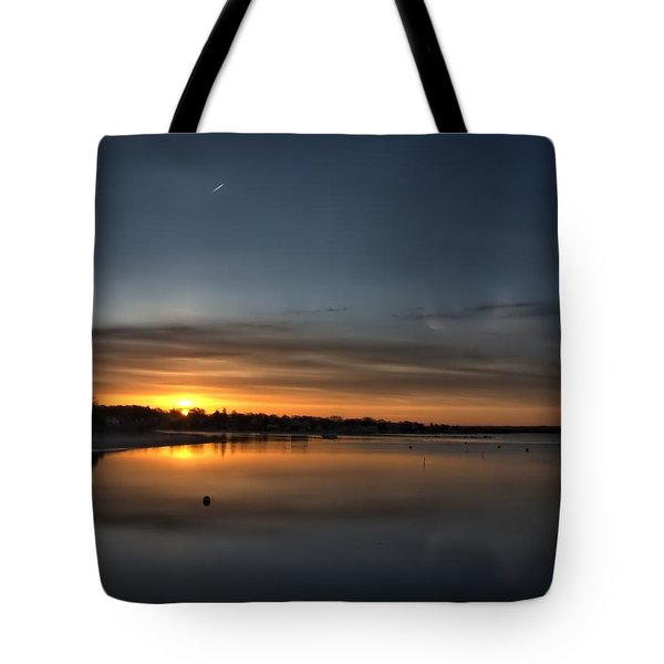 Waking To A Cold Sunrise Tote Bag