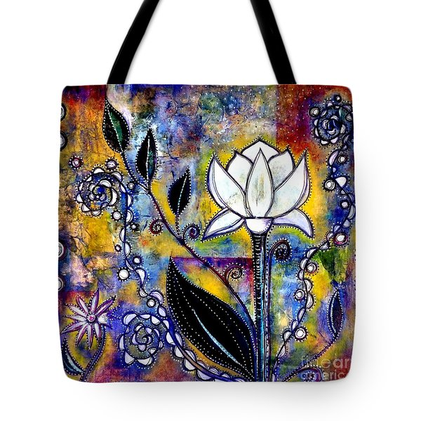 Waking Up Tote Bag by Julie  Hoyle
