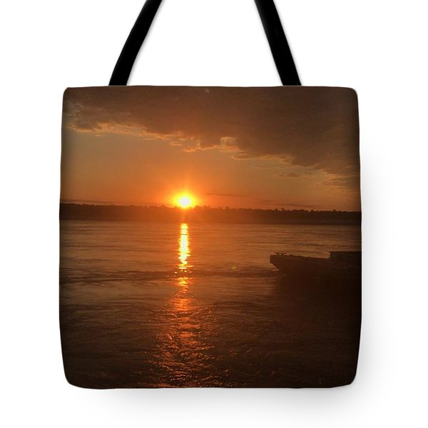 Tote Bag featuring the photograph Waking Up The River by Cindy Charles Ouellette