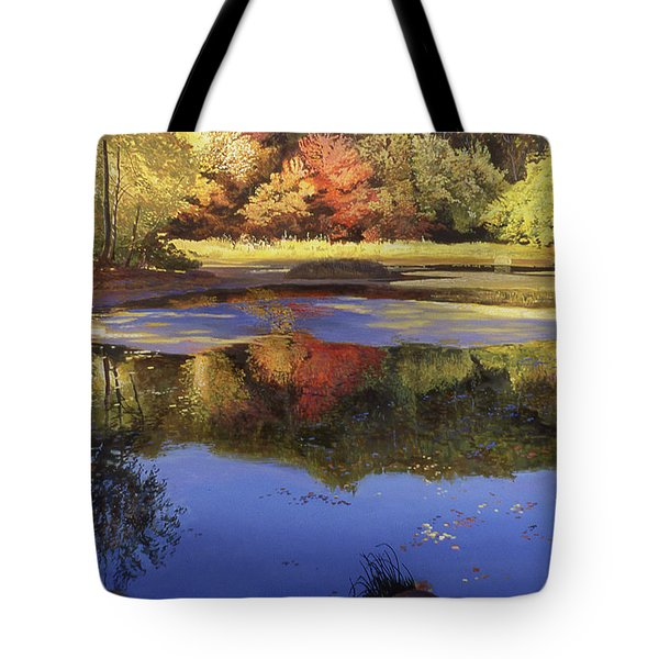 Walden Pond II Tote Bag by Art Chartow