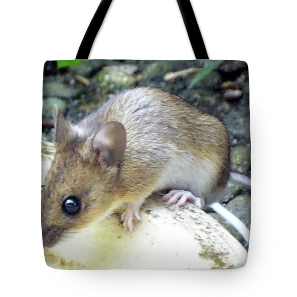 Waldmaus Woody Tote Bag by Helmut Rottler