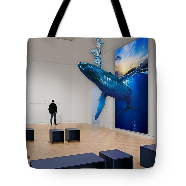 Wale Watching  Tote Bag by Marvin Blaine