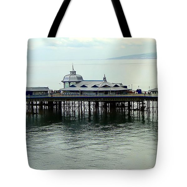 Tote Bag featuring the photograph Wales Boardwalk by Joan  Minchak