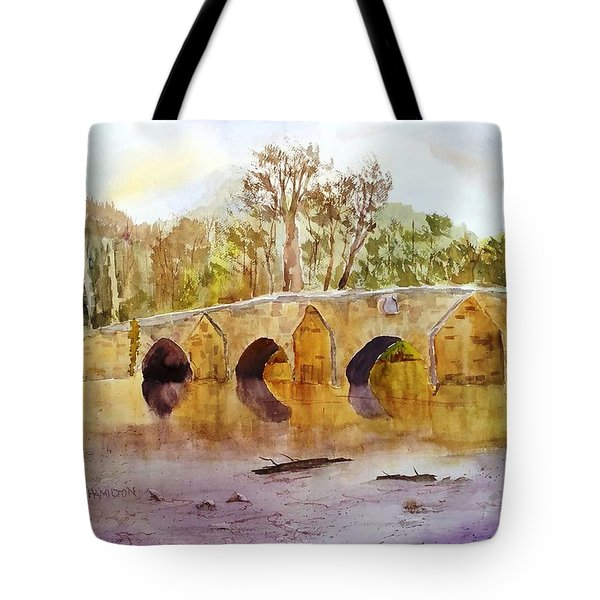 Wales Dipping Bridge Tote Bag