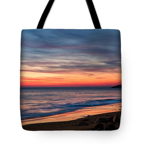 Wales Gower Coast Dusk Tote Bag