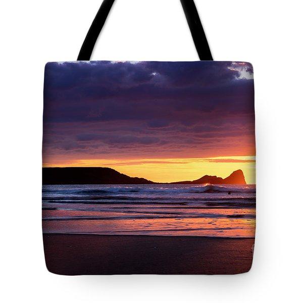 Wales Gower Coast Helvetia Tote Bag