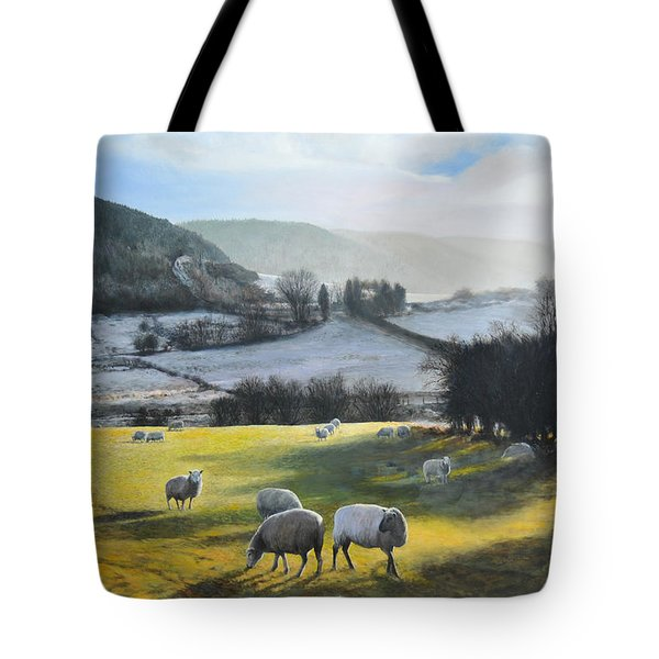 Tote Bag featuring the painting Wales. by Harry Robertson