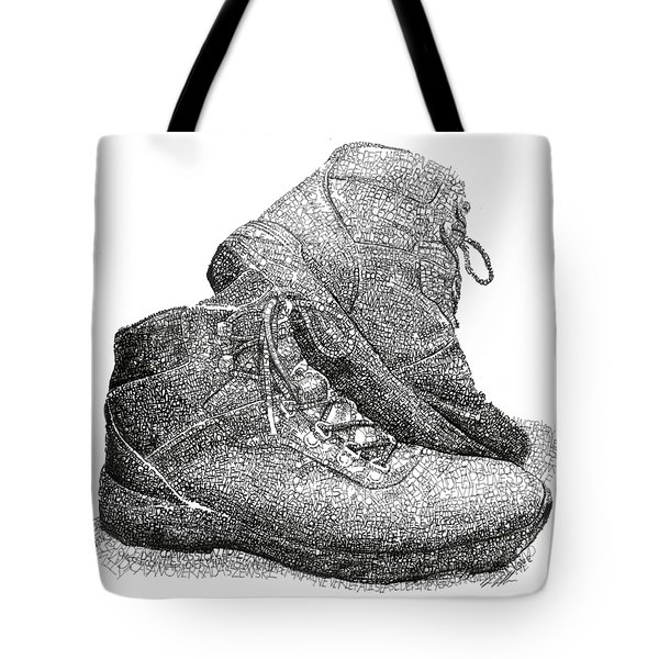Walk A Mile In My Shoes-john Casanover Ms Project Tote Bag