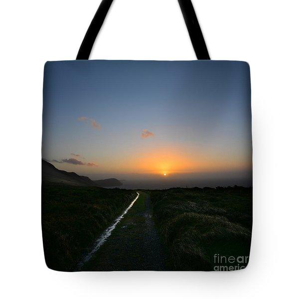 Walk Along The Coast At Eary Cushlin Tote Bag