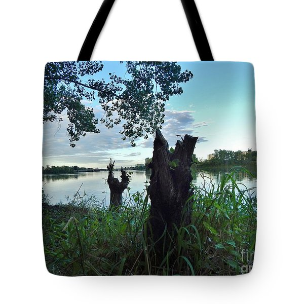 Walk Along The River In Verdun Tote Bag