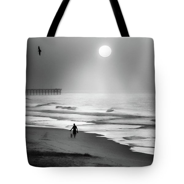 Tote Bag featuring the photograph Walk Beneath The Moon by Karen Wiles