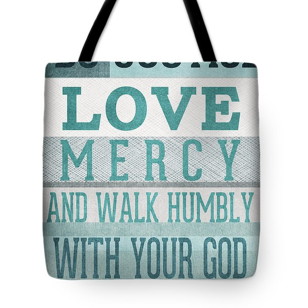 Walk Humbly- Micah  Tote Bag