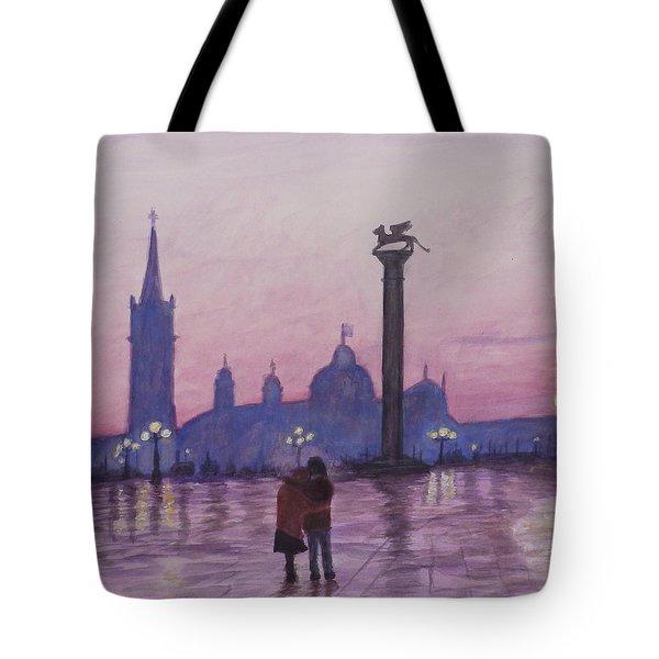 Walk In Italy In The Rain Tote Bag