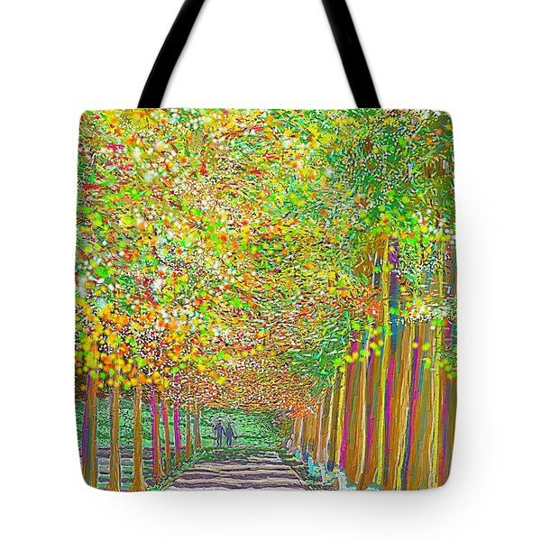 Walk In Park Cathedral Tote Bag