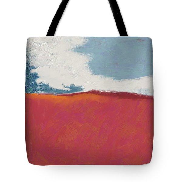 Walk In The Field- Art By Linda Woods Tote Bag