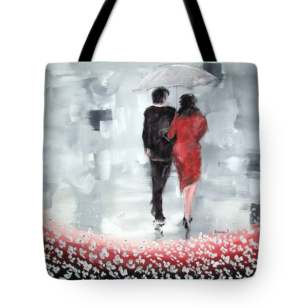 Tote Bag featuring the painting Walk In The Garden by Raymond Doward