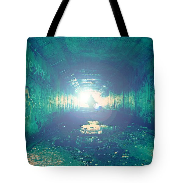 Tote Bag featuring the photograph Walk In The Light by Joel Witmeyer