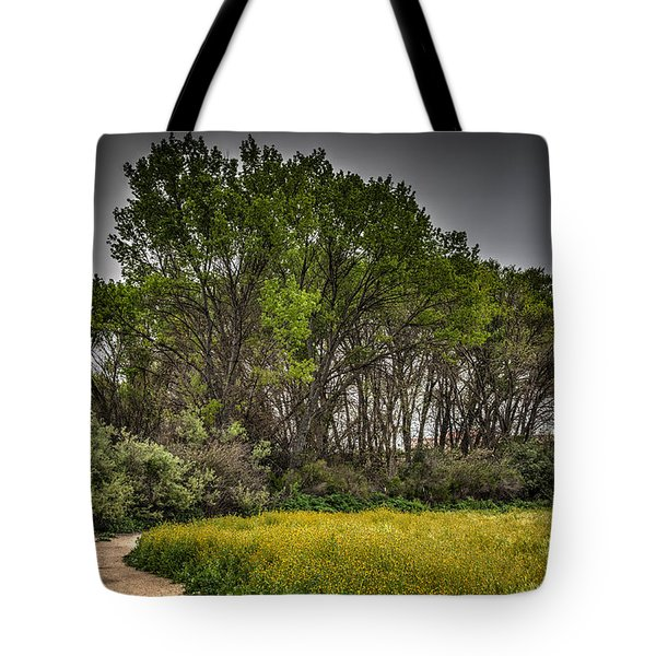 Walk In The Meadow In Spring Tote Bag