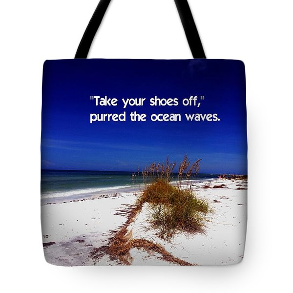 Walk In The Sand Tote Bag by Gary Wonning