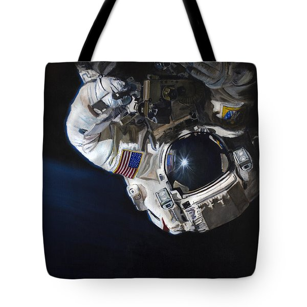 Walk Into Darkness  Tote Bag by Simon Kregar