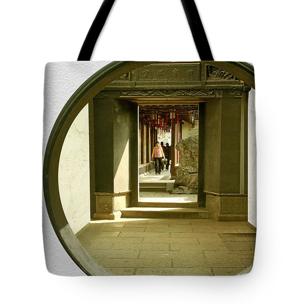 Walk Into The Light - Yuyuan Garden Shanghai China Tote Bag by Christine Till