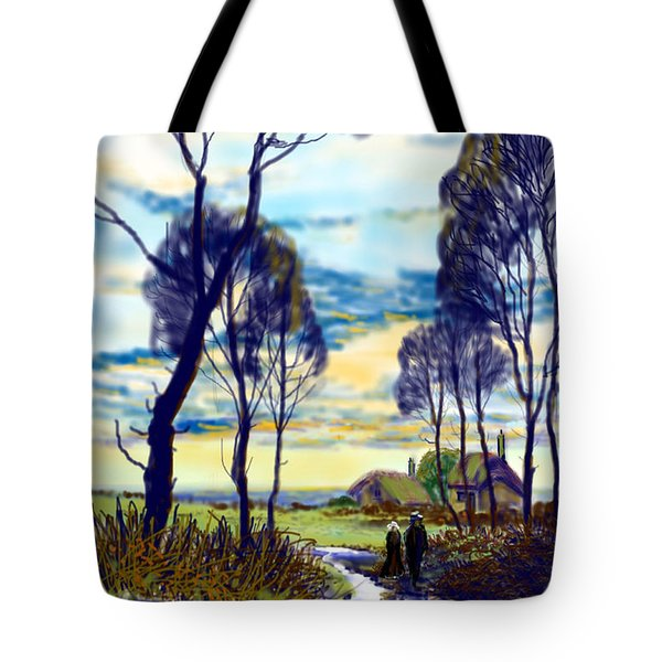 Walk On A Wet Road Tote Bag