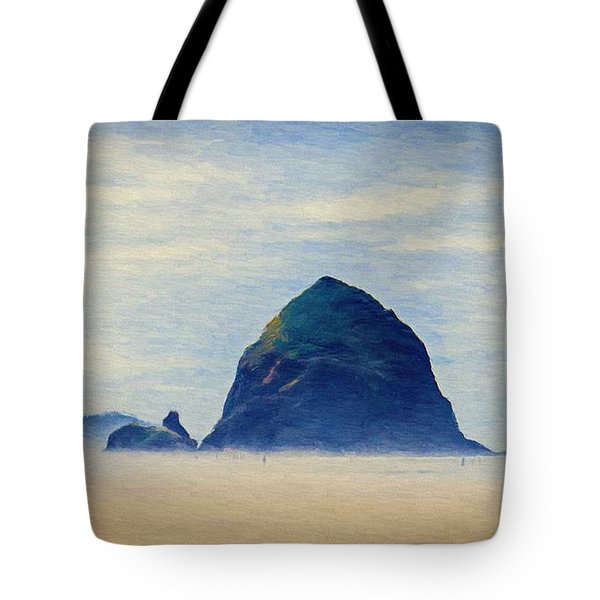 Tote Bag featuring the painting Walk On The Beach by Jeff Kolker