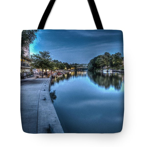 Walk On The Canal Tote Bag