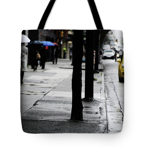 Walk Or Cab Tote Bag by Empty Wall