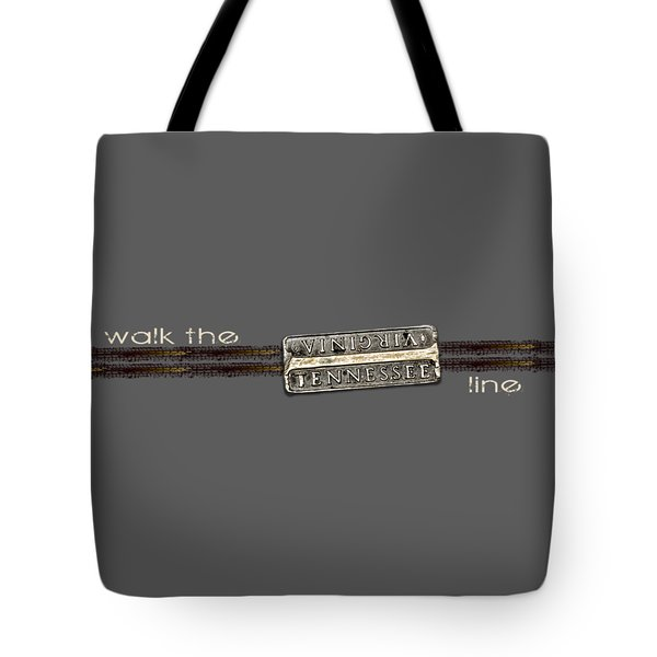 Walk The Line Light Lettering Tote Bag by Heather Applegate