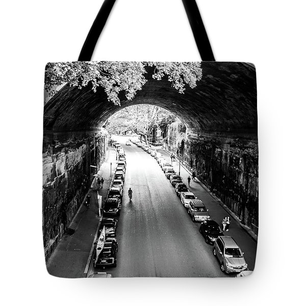 Tote Bag featuring the photograph Walk The Tunnel by Perry Webster