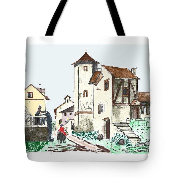 Walk Through Town Tote Bag