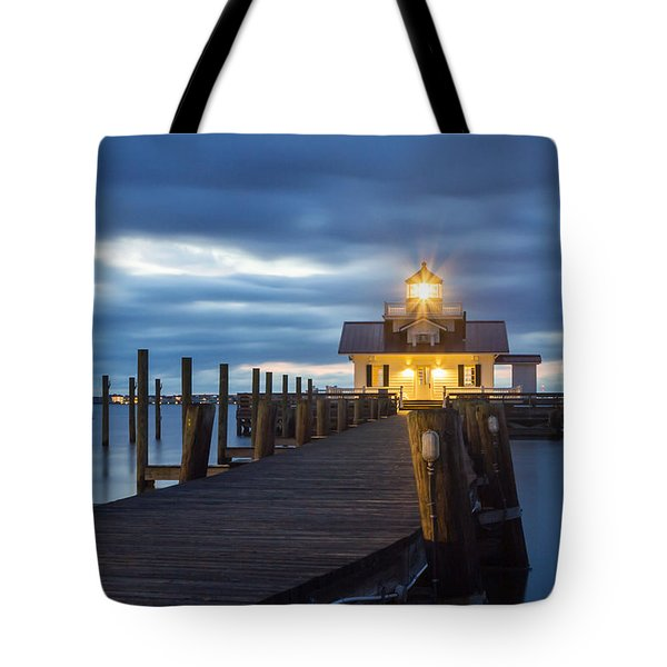Walk To Roanoke Marshes Lighthouse Tote Bag