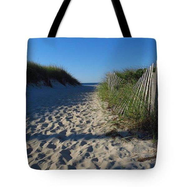 Walk To The Beach Tote Bag