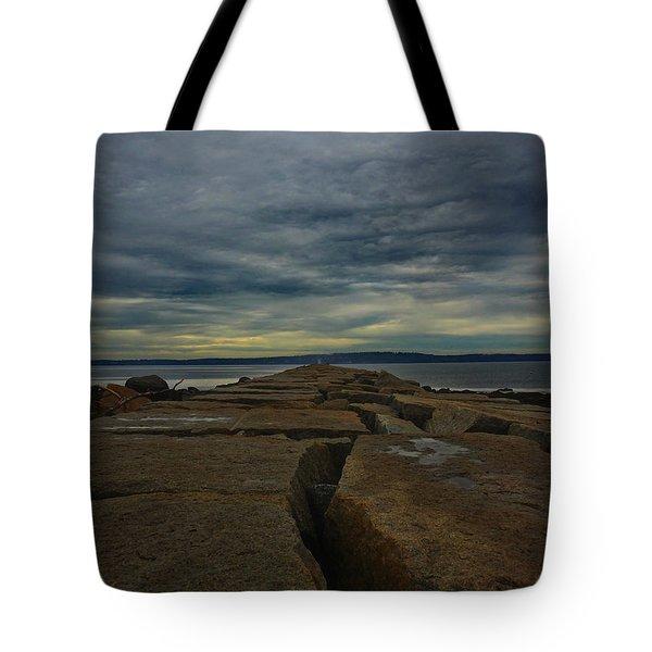 Walk To The Sea Tote Bag